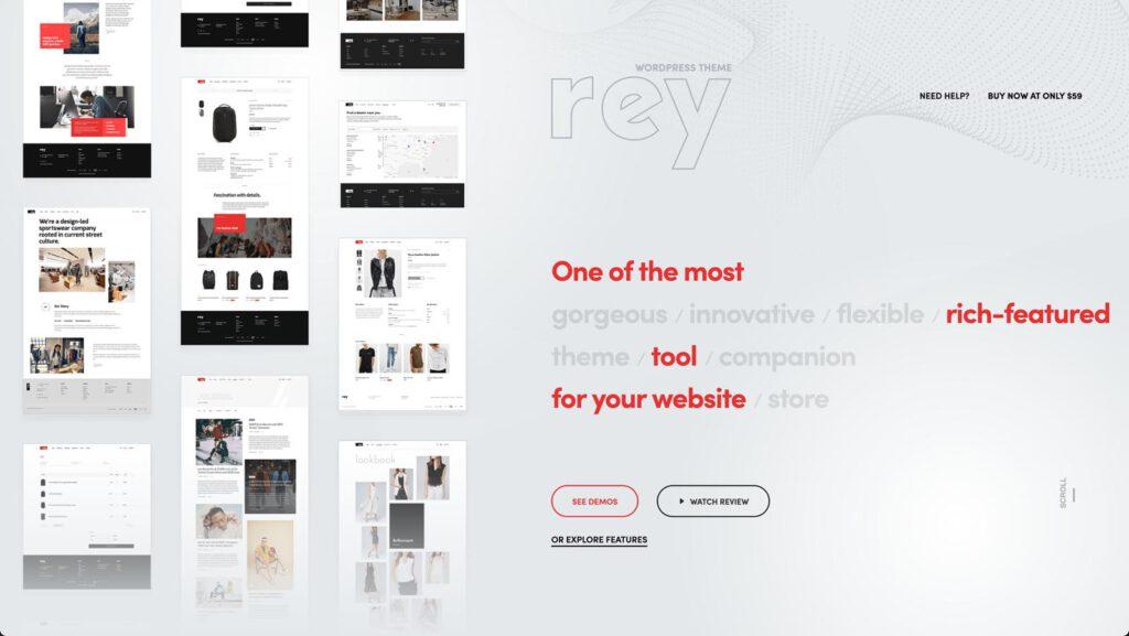 Rey Theme für Elementor und WooCommerce